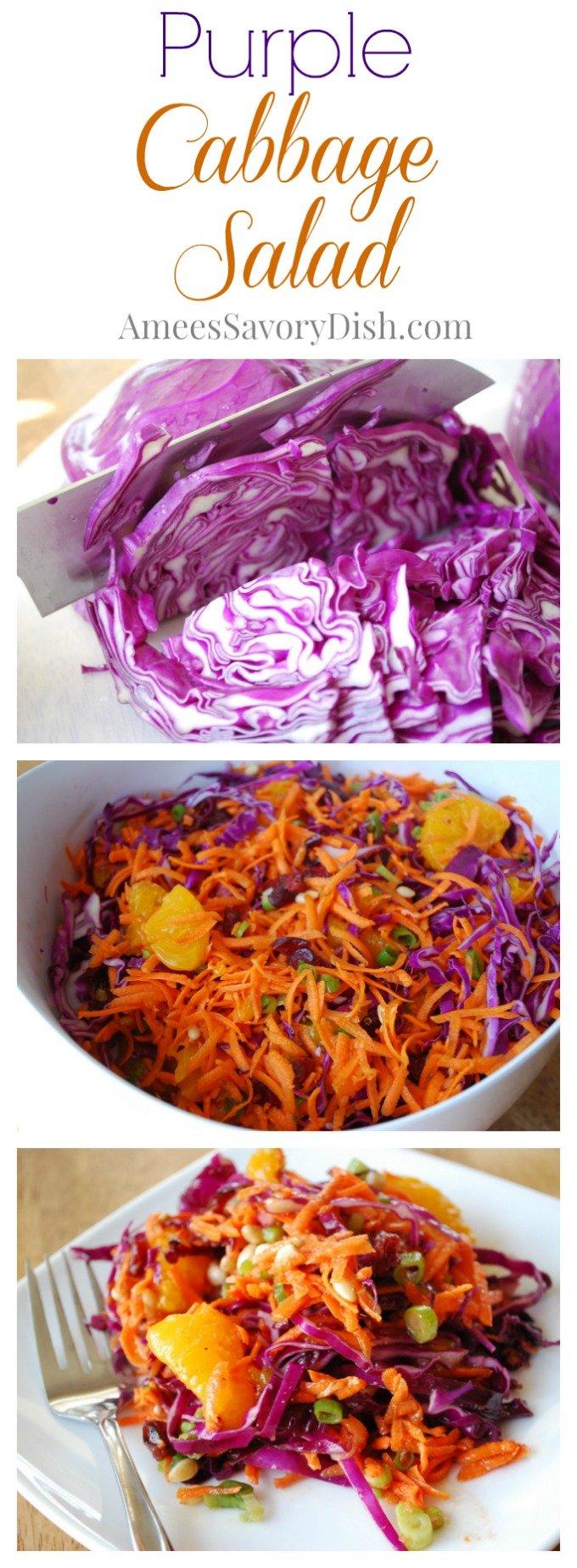 purple cabbage salad recipe