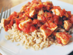 Easy salsa chicken and rice makes a fast and healthy meal
