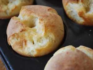 Easy Classic Popovers after baking
