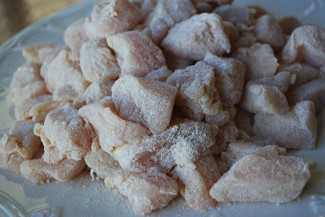 chicken breast pieces coated in seasoning