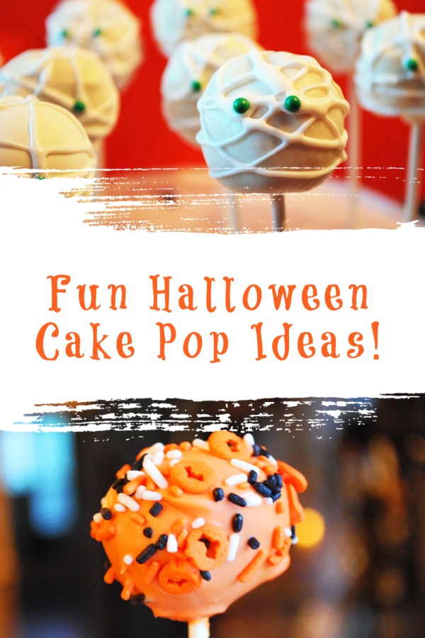 Fun Halloween cake pops to bring smiles to all your little goblins. Ideas on creating mummies, pumpkins or fun confetti designs for your next Halloween bash. via @Ameecooks