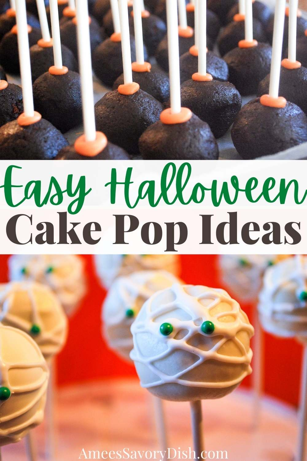Fun Halloween cake pops to bring smiles to all your little goblins. Ideas on creating mummies, pumpkins or fun confetti designs for your next Halloween bash. via @Ameessavorydish