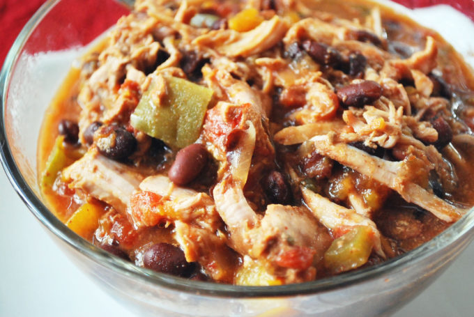 Delicious and easy slow cooker pork tenderloin chili with black beans