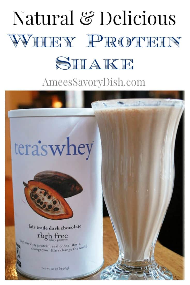 Natural and Delicious Chocolate Banana Whey Protein Shake recipe
