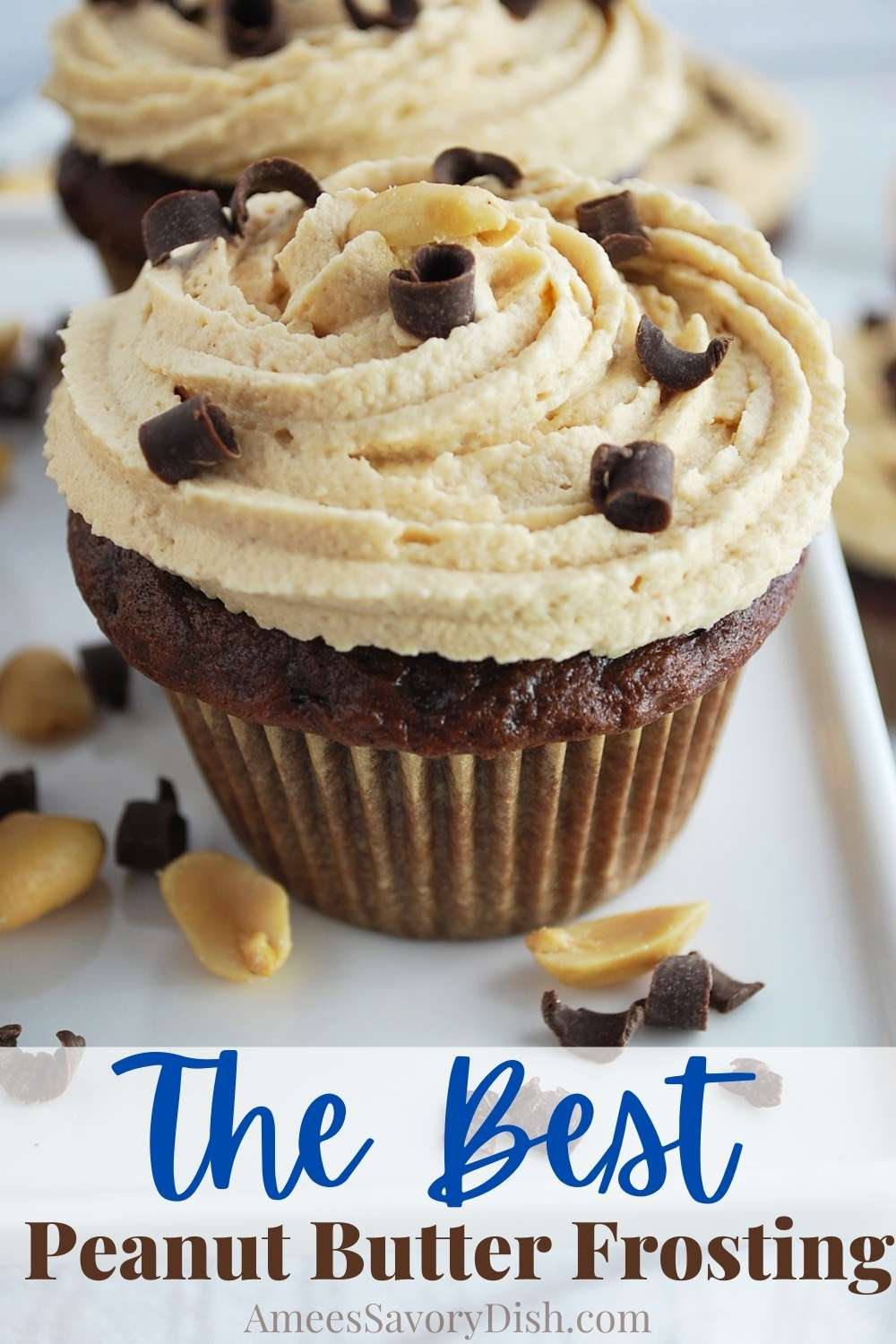 This easy recipe for Peanut Butter Cream Cheese Frosting has the perfect frosting texture and is incredibly delicious! via @Ameessavorydish