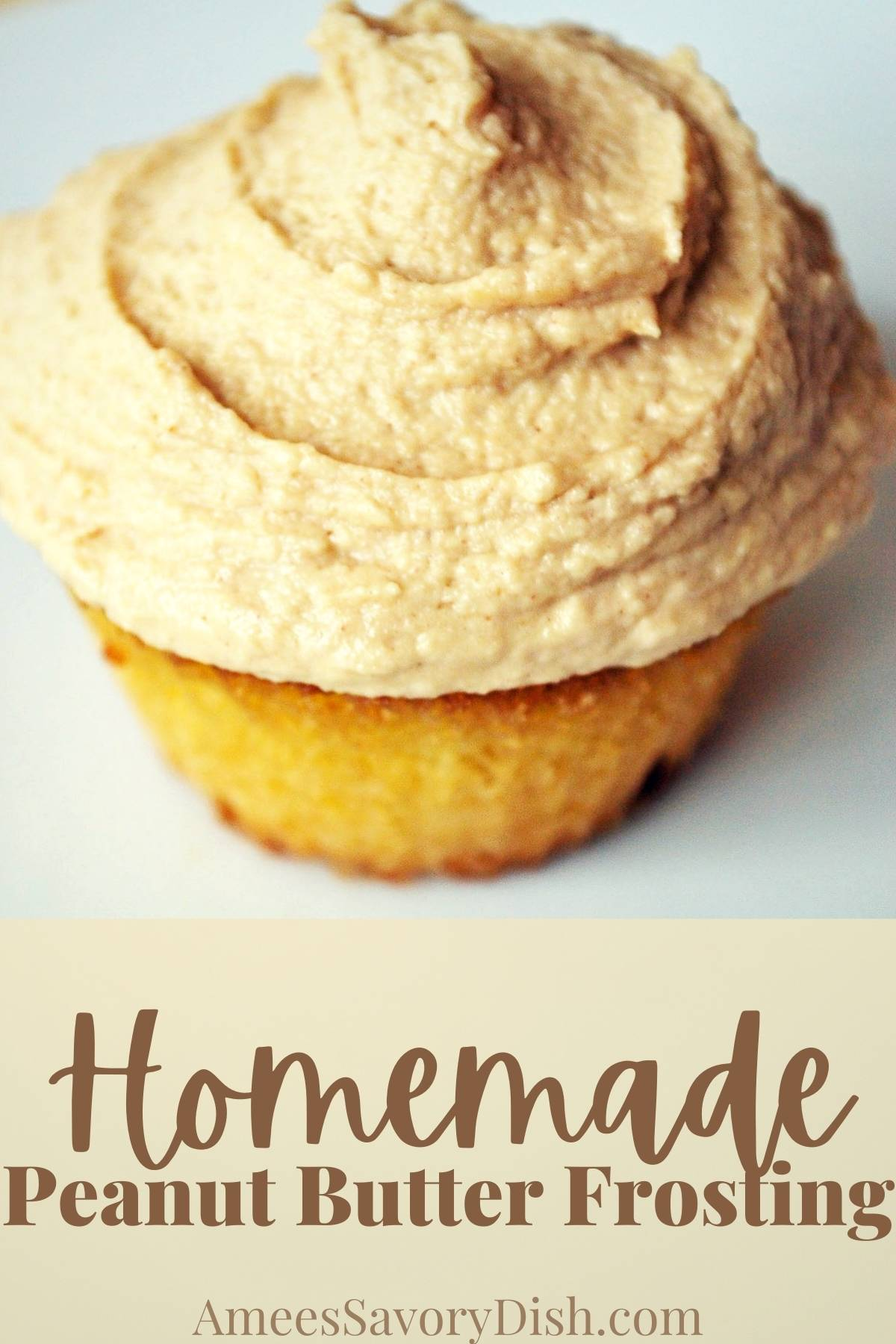 A creamy and delicious recipe for peanut butter frosting made with creamy peanut butter, cream cheese, butter, and powdered sugar. via @Ameessavorydish