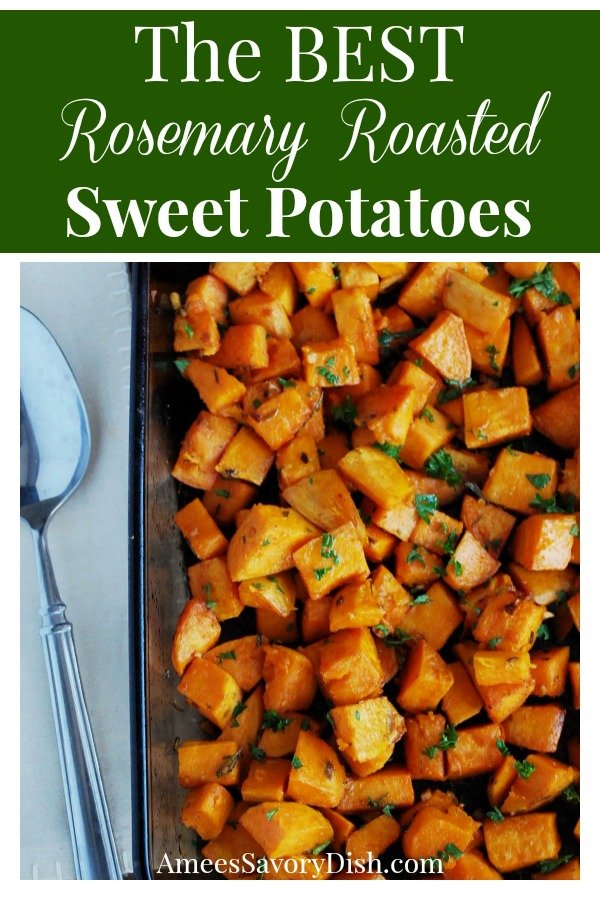 Rosemary Roasted Sweet Potatoes will steal the show at your holiday table! This easy side dish recipe is healthy and delicious!