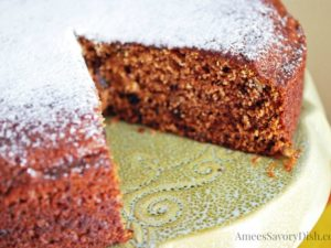 This incredibly moist vintage Date Nut Cake recipe is just like grandma used to make, made with unbleached flour, butter, spices, dates and nuts.