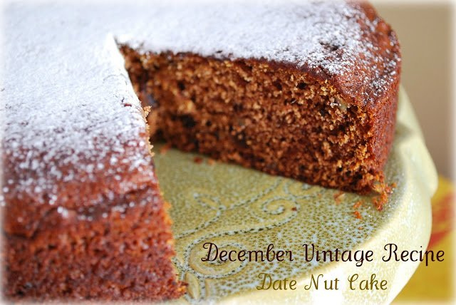 Date Nut Cake- Project Vintage Recipes December recipe