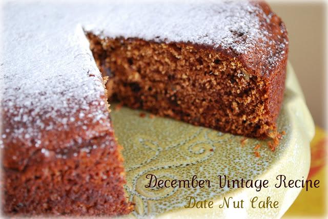 Date Nut Cake Recipe