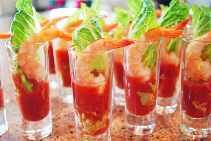 Shrimp shooters party appetizer recipe