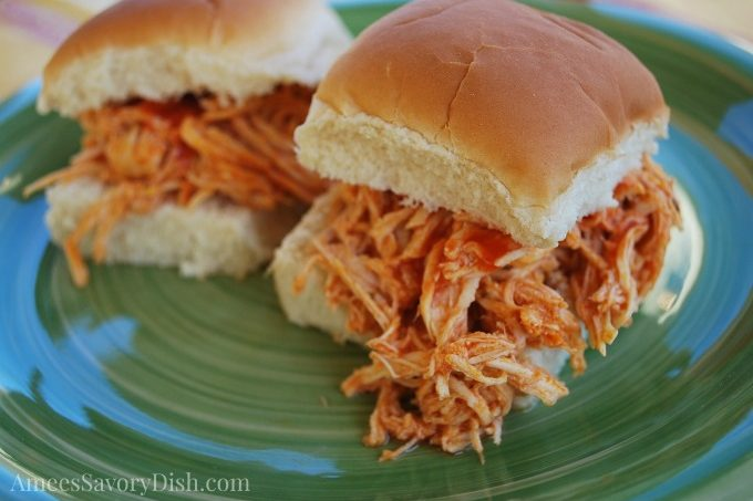 Buffalo Chicken Sandwiches- Crockpot recipe
