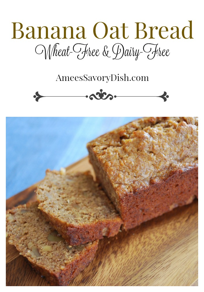 Gluten Free and Wheat Free Banana Oat Bread Recipe