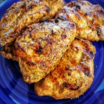 plate of cooked grilled chicken