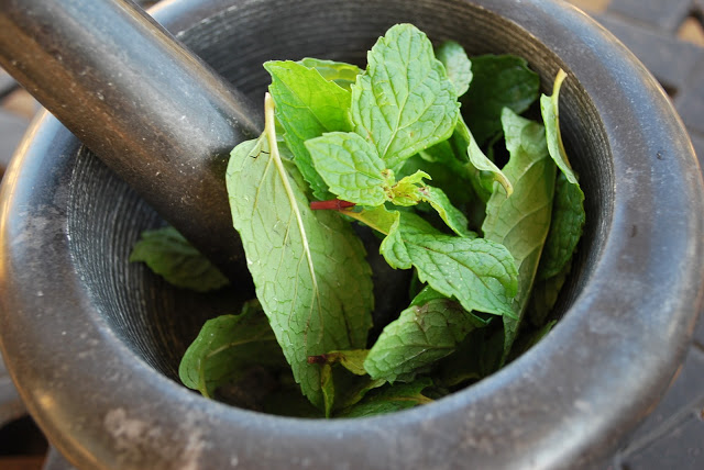 Muddled Mint Leaves