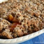 Peach Almond Crisp Wheat Free and Dairy Free