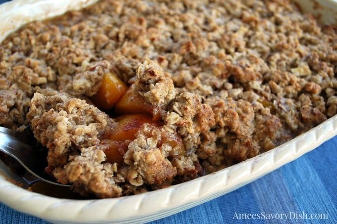 Peach Almond Crisp Wheat Free and Dairy Free