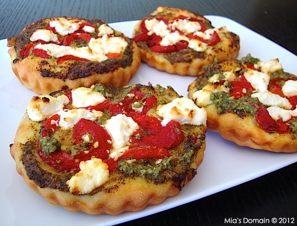 Mini Goat Cheese Pizzas