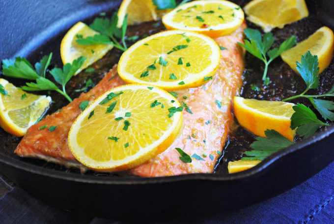 Easy Baked Salmon with Orange Ginger Sauce recipe