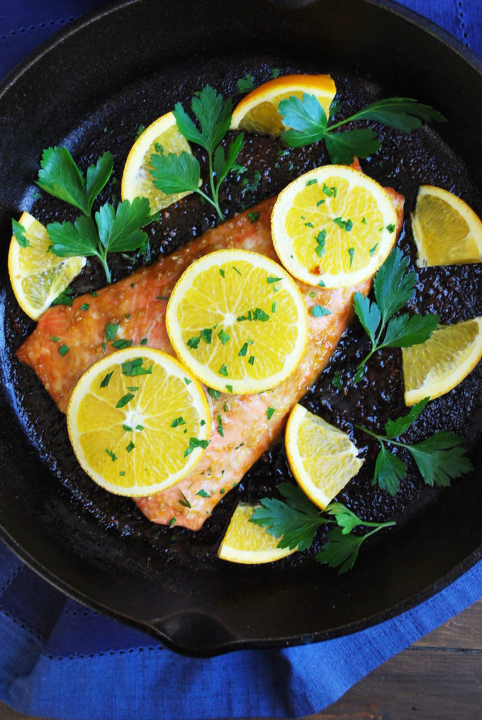 Baked Salmon with Orange Ginger Sauce