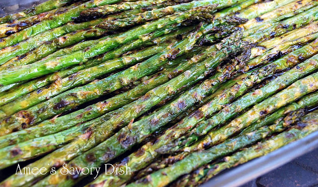 Lemon Balsamic Grilled Asparagus