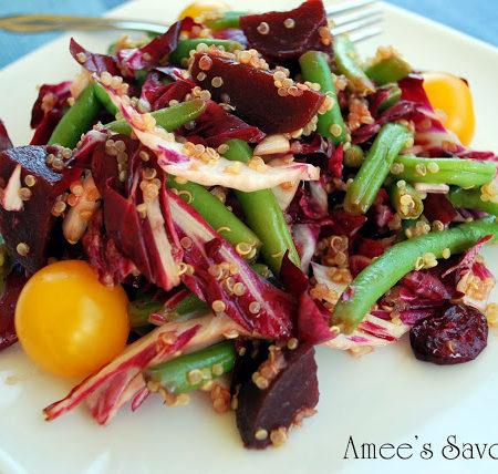 marinated beet and bean salad