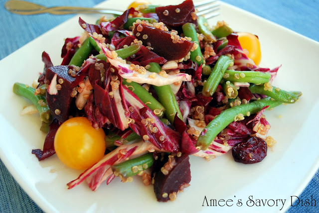 Marinated Bean and Beet Salad with Quinoa and Golden Tomatoes