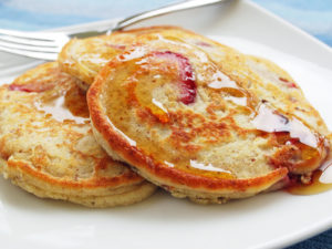 A gluten-free protein strawberry pancake recipe that's light, fluffy and delicious