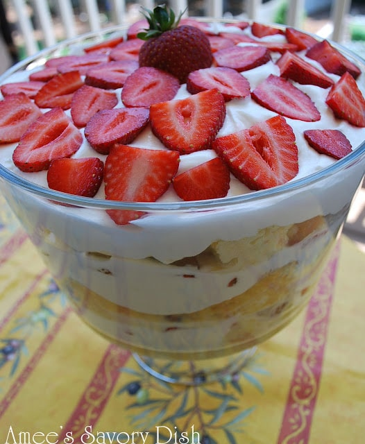 Strawberry Tres Leche Trifle