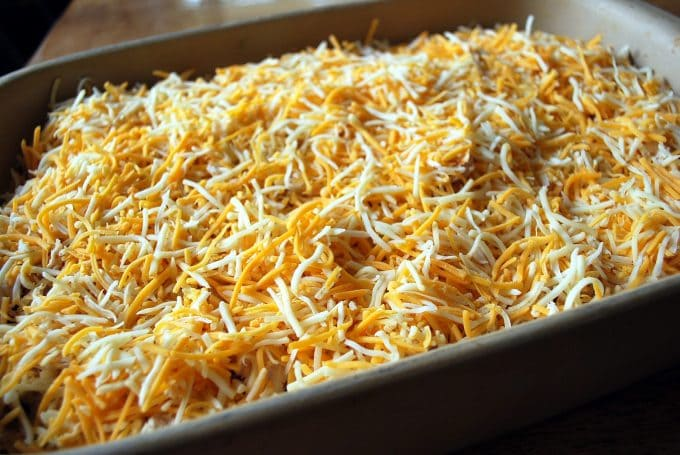 cheese topper for loaded chicken nachos
