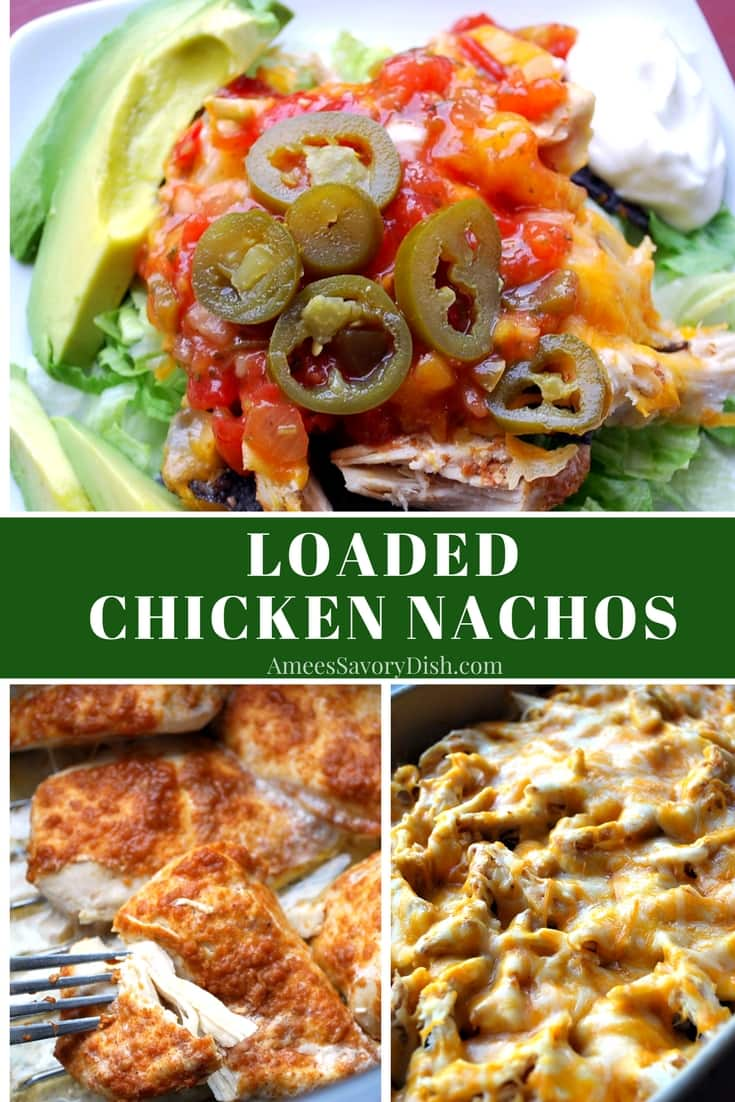 Loaded Chicken Nachos recipe for the oven