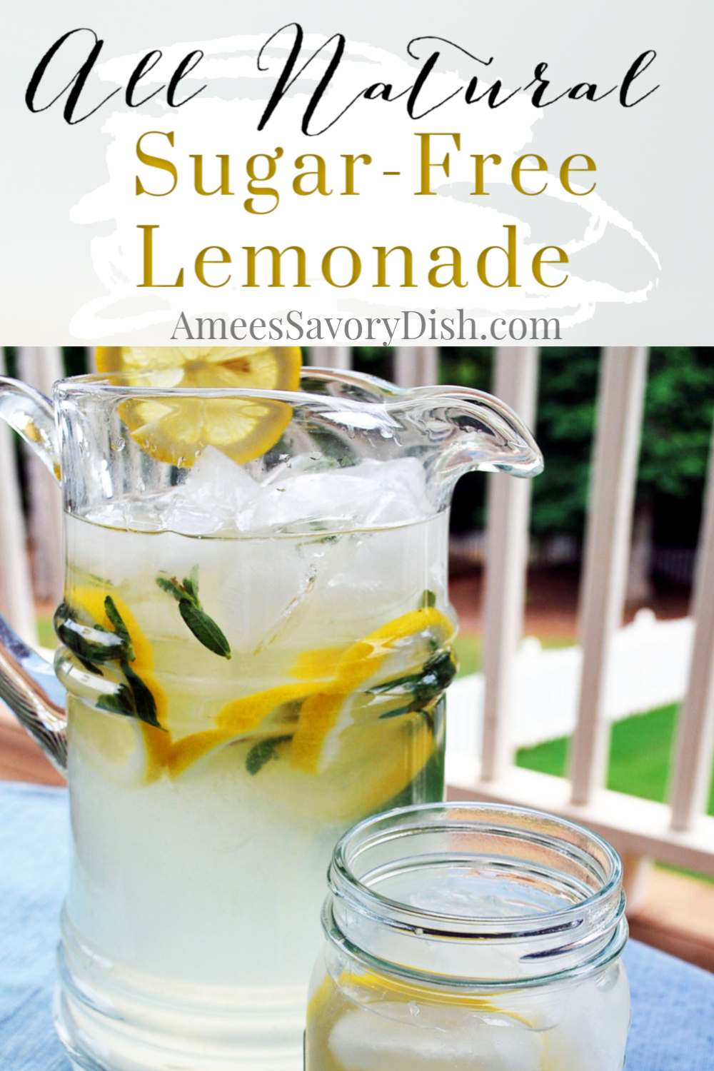 A refreshing summertime recipe for sugar-free lemonade made with all-natural stevia and freshly squeezed lemons. via @Ameessavorydish