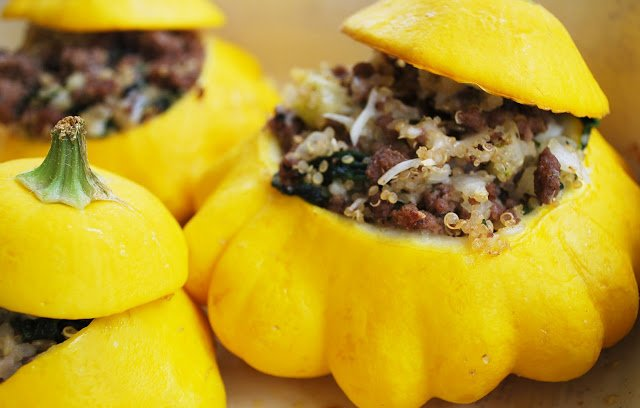 baked stuffed patty pan squash