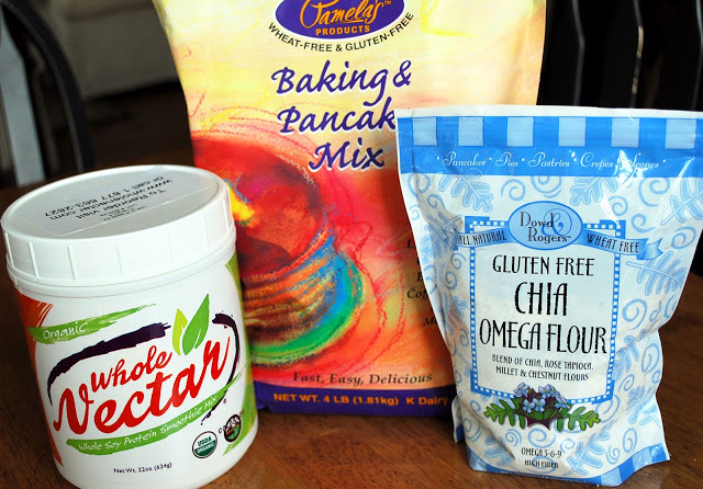 Ingredients for super moist gluten free zucchini bread