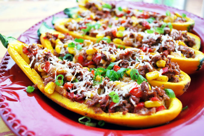 Stuffed Tex-Mex Gold Rush Squash recipe