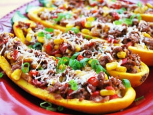 Tex Mex Stuffed Squash Boats recipe