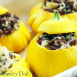 Beef and Quinoa Stuffed Patty Pan Squash