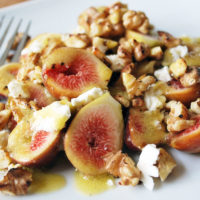 Fresh Fig Salad with feta and walnuts