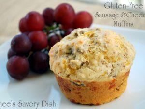 Gluten Free Sausage Cheddar Muffins