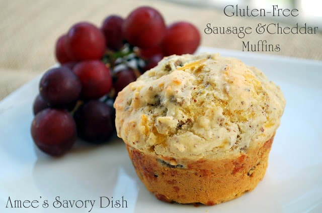 Gluten-Free Sausage Cheddar Muffins