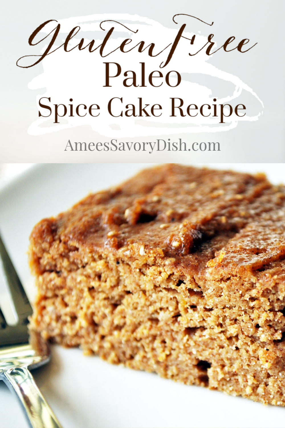 A Paleo-inspired recipe for gluten-free spice cake made with a Paleo blend flour, pumpkin, maple syrup, and eggs for a delicious fall dessert. via @Ameecooks