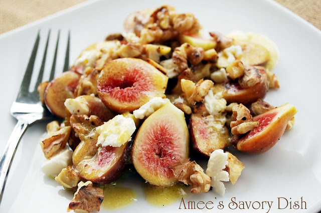Fresh Fig and Feta Salad with Toasted Walnuts