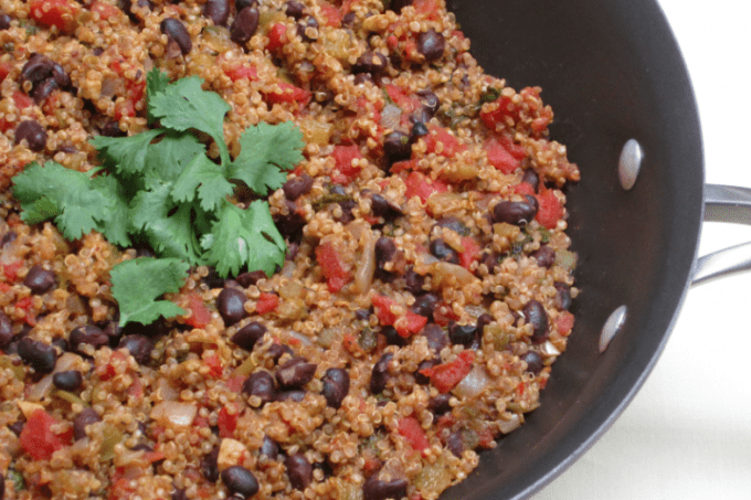 Quinoa with Black Beans….A Guest Post from Skinny Ms.