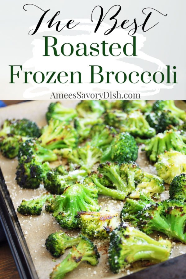 If you shy away from cooking frozen broccoli because you find it soggy and bland, then you need to try this easy and flavorful roasted frozen broccoli recipe! It makes frozen broccoli irresistible, you will probably even go back for seconds! via @Ameessavorydish
