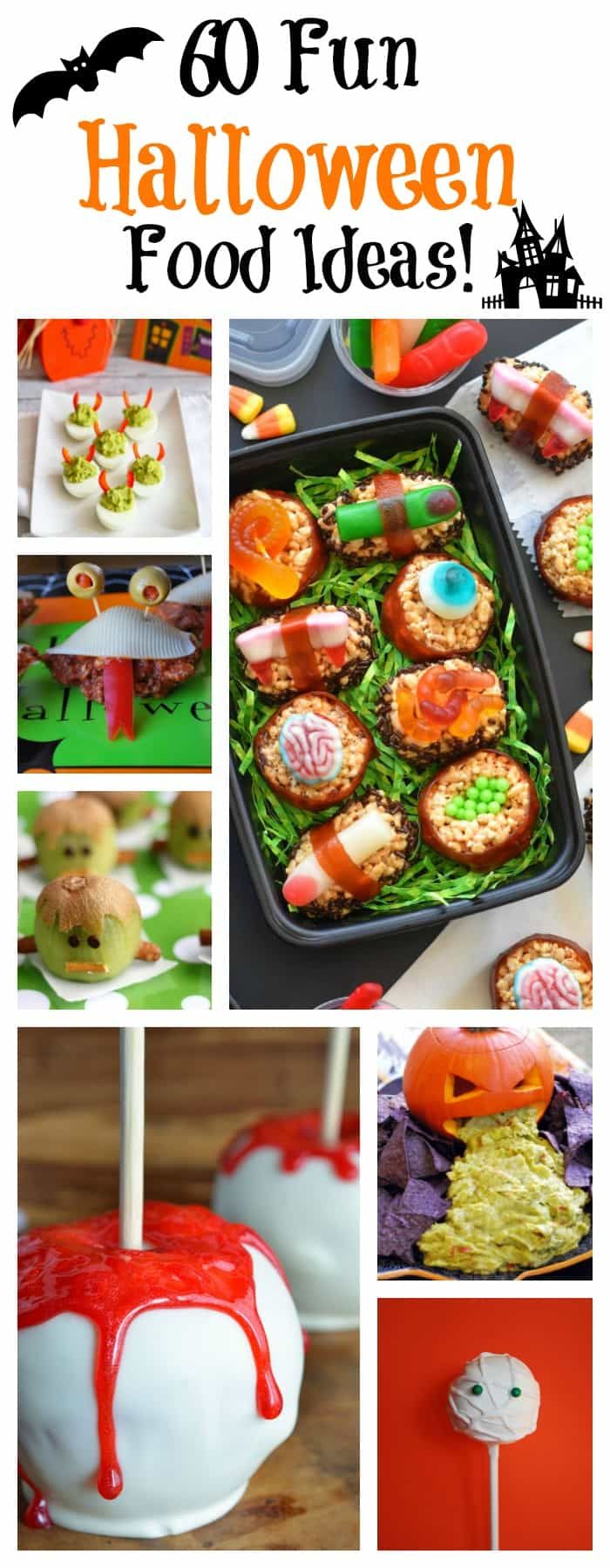 60 Fun Halloween Party Planning and Food Ideas to inspire your next party! #halloween #halloweenrecipes #funhalloweenfood #halloweenfood via @Ameecooks
