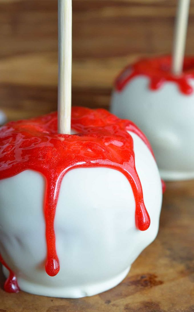 Bloody White Chocolate Apples