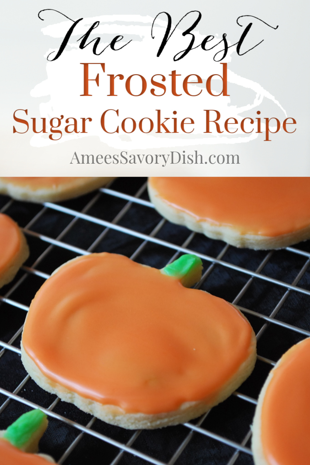 A simple recipe for cut-out frosted sugar cookies with the perfect finishing glaze! After trying out many different recipes, this version takes the cake. Best of all, they are incredibly delicious!! Betcha can't eat just one! via @Ameessavorydish