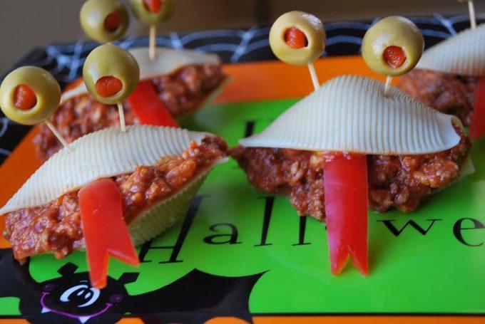Monster Joes for fun Halloween food