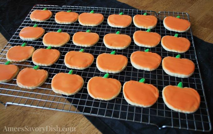 Pumpkin cookie tray