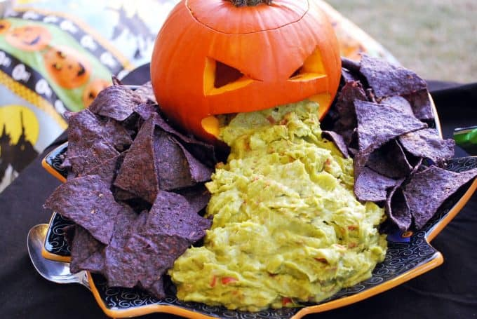 Vomiting Pumpkin with Guacamole